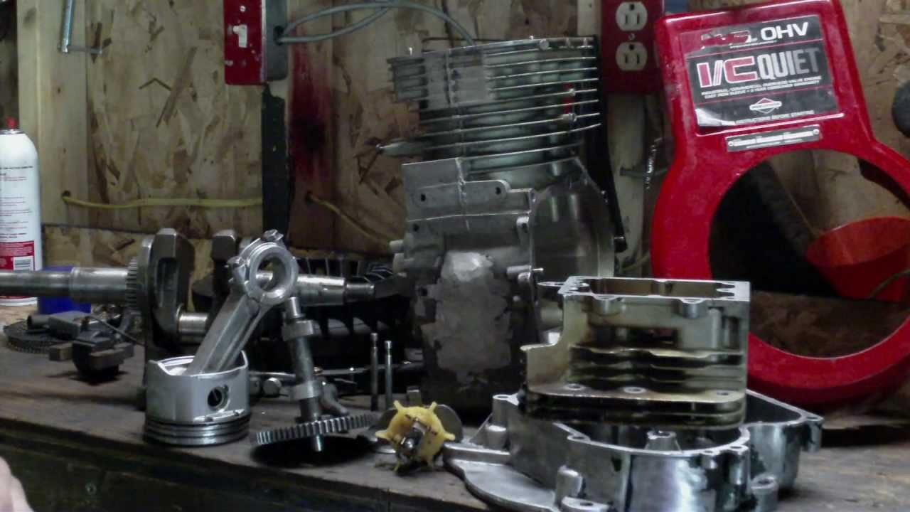 briggs  stratton  hp ohv reassembly