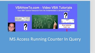MS Access Running Counter In Query