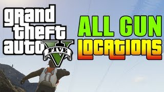 GTA 5 ALL GUN LOCATIONS + Scuba Gear! (RPG, SNIPER