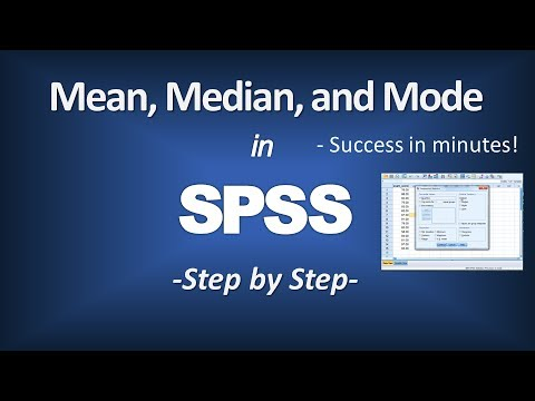 how to find mean mode and mdeian in spss