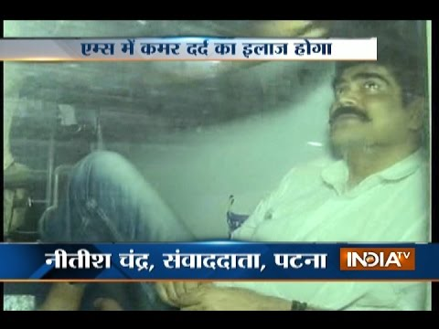 RJD former MP Shahabuddin sent to Delhi for treatment at AIIMS