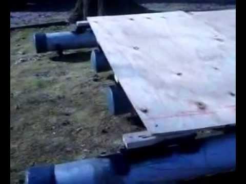 Homemade Pvc pontoon boat - YouTube