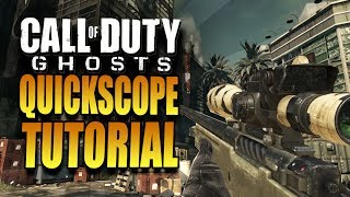 How To QuickScope In Call Of Duty Ghosts COD Ghost