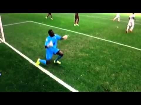 Epic Reaction from Ghana Keeper after save! (MUST SEE)