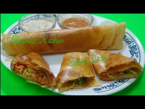 How to Prepare Spring Dosa Recipe Video by Bhavna - Gluten free & Vegan
