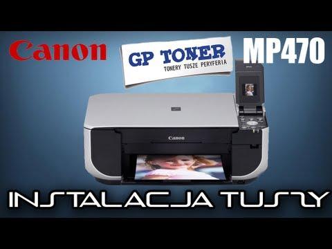 Canon PIXMA MP470 - Instalacja kartridży - zamienników - w drukarce PG-40 i CL-41 - www.gptoner.pl