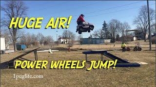Doing Jumps In A Mini Power Wheels Toy