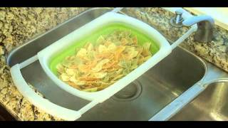 Superieur Collapsible Over The Sink Colander   Kitchen Gadget Demo   Progressive  International   YouTube