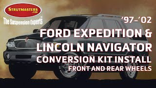 1997-2002 Ford Expedition & Navigator With A Strutmasters Air Suspension Conversion (Install Video) videos
