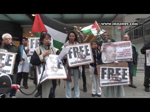 Free Sheikh Khader Adnan - London Protest 11th July 2014 [WWW.INMINDS.COM]