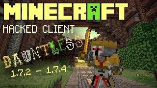 Minecraft 1.7.2 1.7.5 : Hacked Client DAUNTLESS