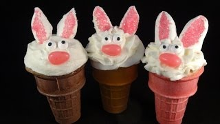 bunny cone cakes