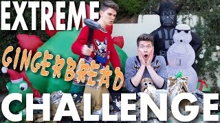 Gingerbread House Challenge gets EXTREME + Slow Motion! SIBLING TAG | Devan & Collins Key