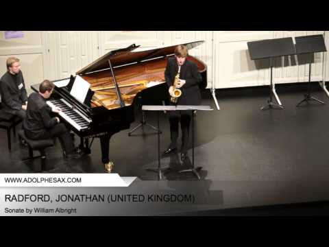 Dinant 2014 - RADFORD, Jonathan (Sonate by William Albright)