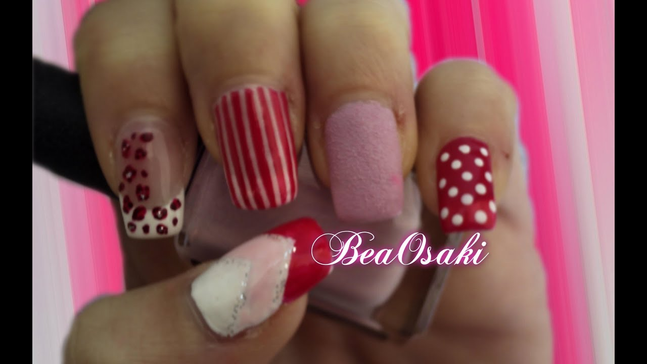 All Pink Nail Art - YouTube