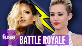 Miley Cyrus Vs. Rihanna Smoking Weed Battle Royale