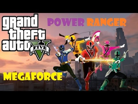 GTA5-PowerRanger:Cuộc chiến không hồi kết Megaforce và Police Military