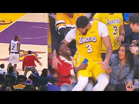 Kevin Hart Throws Punches At Kawhi Leonard & Anthony Davis Falls On His Lap! Lakers vs Clippers