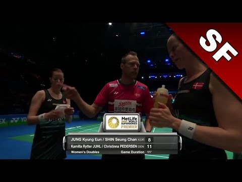 Yonex All England Open 2017 | Badminton SF | Jung/Shin vs Juhl/Ped [HD]