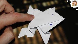 Como Fazer Um Sapo De Papel Que Salta (Origami Passo A