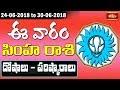 Leo Weekly Horoscope By Dr Sankaramanchi Ramakrishna Sastry   24 June 2018 - 30 June 2018