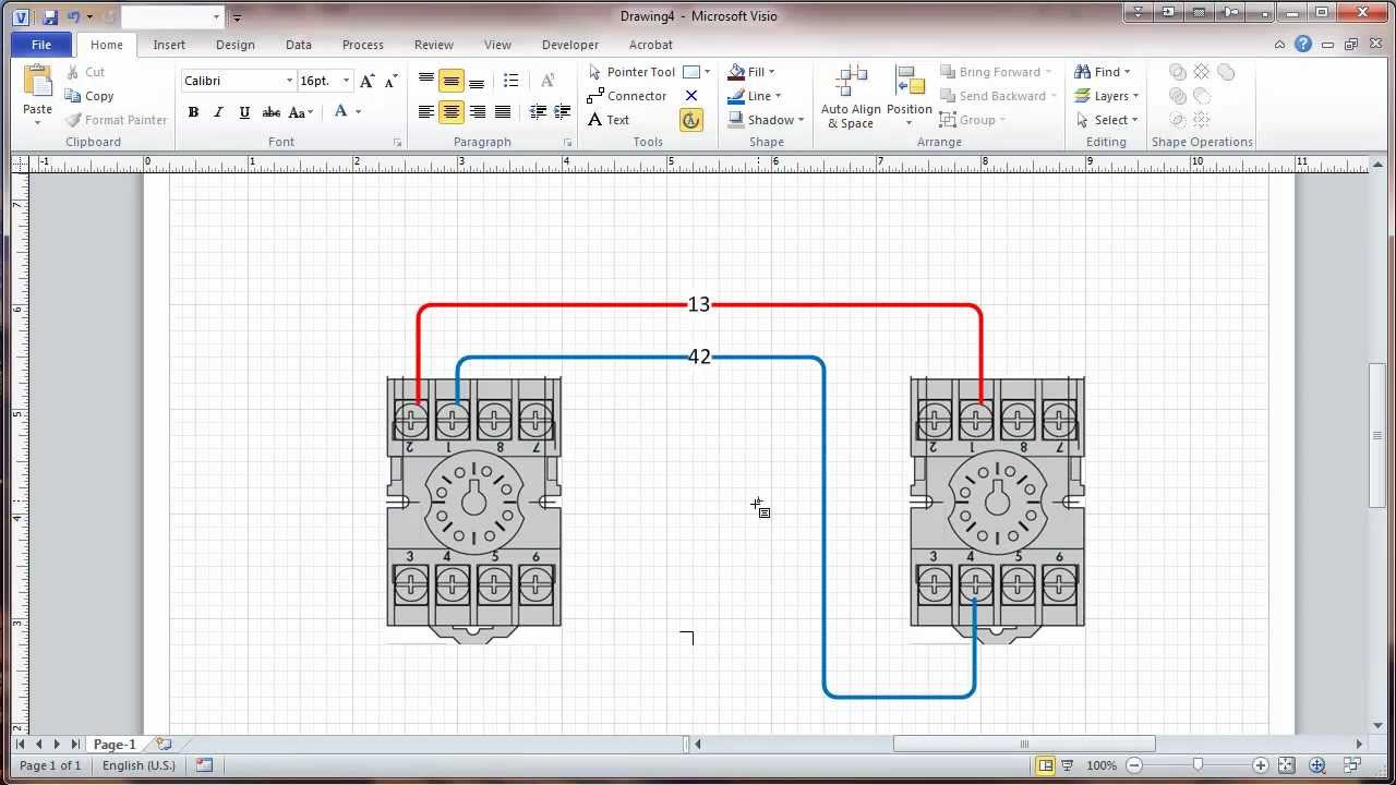 Visio Wiring Diagram Tutorial : Visio connectors and connection points tutorial