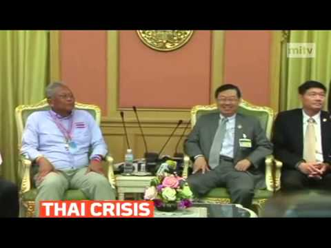 mitv - Leader of Suthep Thaugsuban meets with Surachai Liengboonlertchai