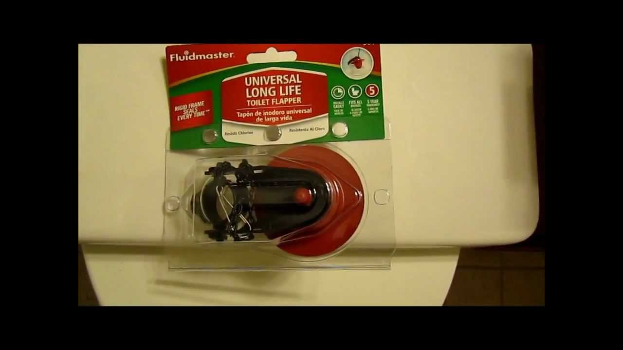 Fixing A Leaking Toilet With Fluidmaster Toilet Flapper