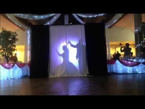 Father Daughter Dance:  Silhouette Drape Set Up | Fairytale Dances