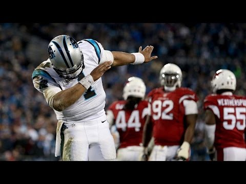 Cam Newton Dabs in End Zone  While Teams Are Fighting