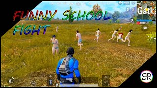 Pubg School Funny  Fight | Funny Pubg Video With Srten |