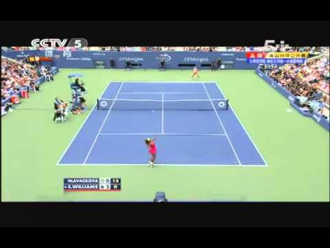 Andrea Hlavackova vs Serena Williams Perfect Play at Set 2 US Open 2012 Spe 3rd 4 Round