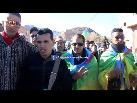 """شاهد … أقوى لحظات المسيرة في تخليد الذكرى الثانية لإغتيال """"عمر خالق"""" ."""