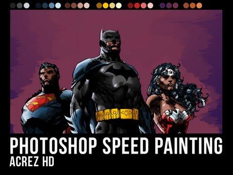 Photoshop Speed Painting - Comic Book Art - AcrezHD