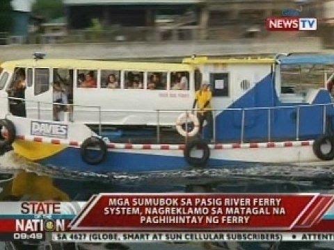SONA: Pasig river ferry system, binuksan na