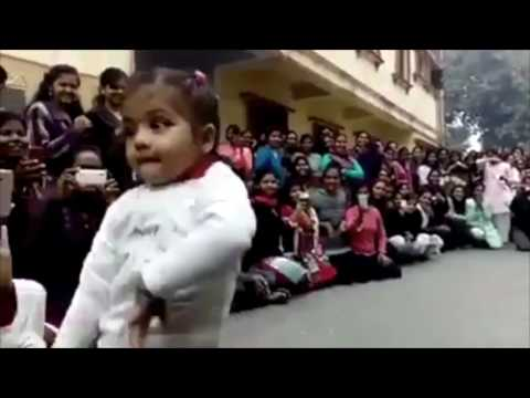 Little Indian Girl Dancing on Song Manw Lagay and others Cute