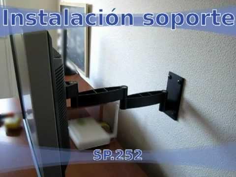 Instalar soporte tv led lcd doble brazo articulado de for Muebles para led 50 pulgadas