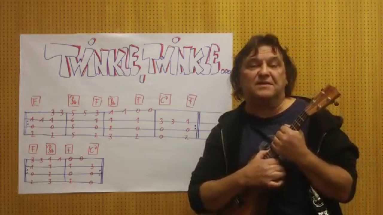 Ukulele Lesson (w/TAB) #8 : How To Play u0026quot;Twinkle Twinkle Little Staru0026quot; Fingerstyle - Helmut ...