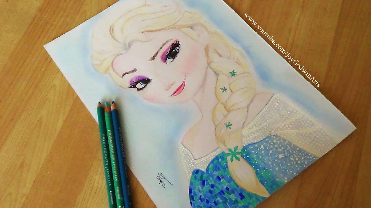 FROZEN : Elsa Speed Drawing - YouTube