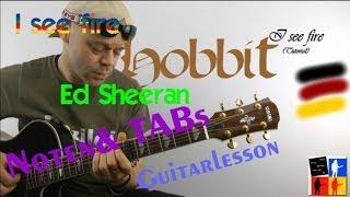 I See Fire Guitar Hobbit Ed Sheeran Guitarlesson
