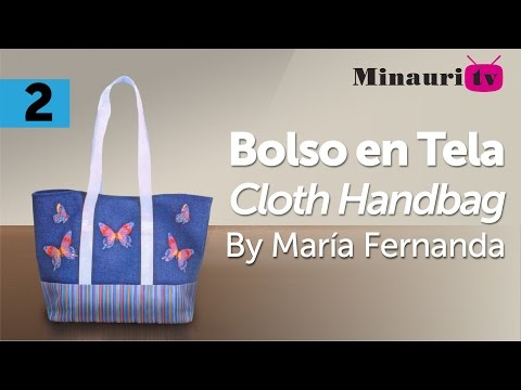 Bolso en Tela By María Fernanda (B 2/2) ( Hand made Tote / Bags / Purses / Handbags / Wallet )
