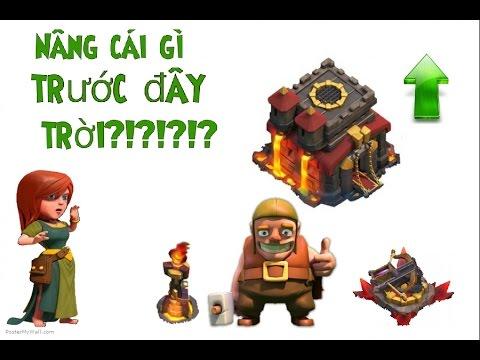 CLASH OF CLANS Thu tu nang cap cong trinh TH10