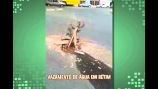 Telespectadora registra flagrante de desperd�cio d'�gua em Betim
