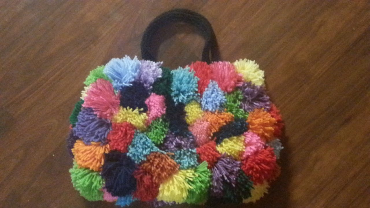 Crochet Bag Youtube : ... TUTORIAL POOFY POM POM COLORSPLASH crochet purse CROCHET BAG - YouTube