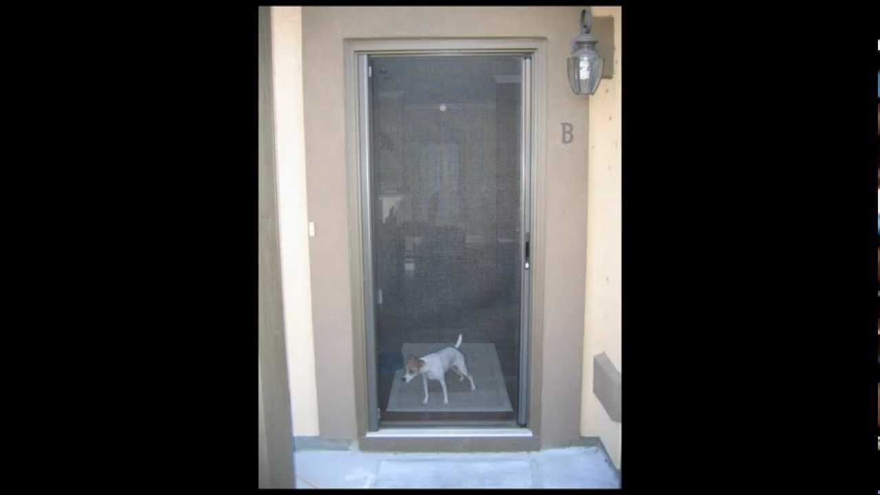 Roll away retractable screen doors youtube for Best rated retractable screen doors