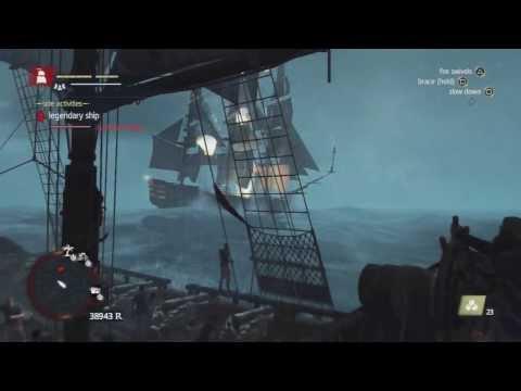 Assassin's Creed 4 - Defeating Legendary Ship - La Dama Negra