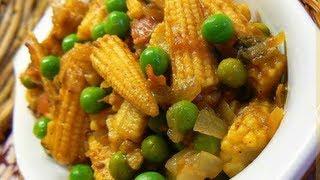 Baby Corn Matar Masala..