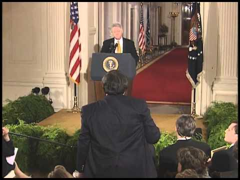 President Clinton's News Conference on Kosovo & NATO Action (1999)