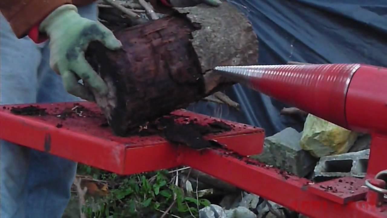 Fendeuse à bois , (screw splitter)  YouTube