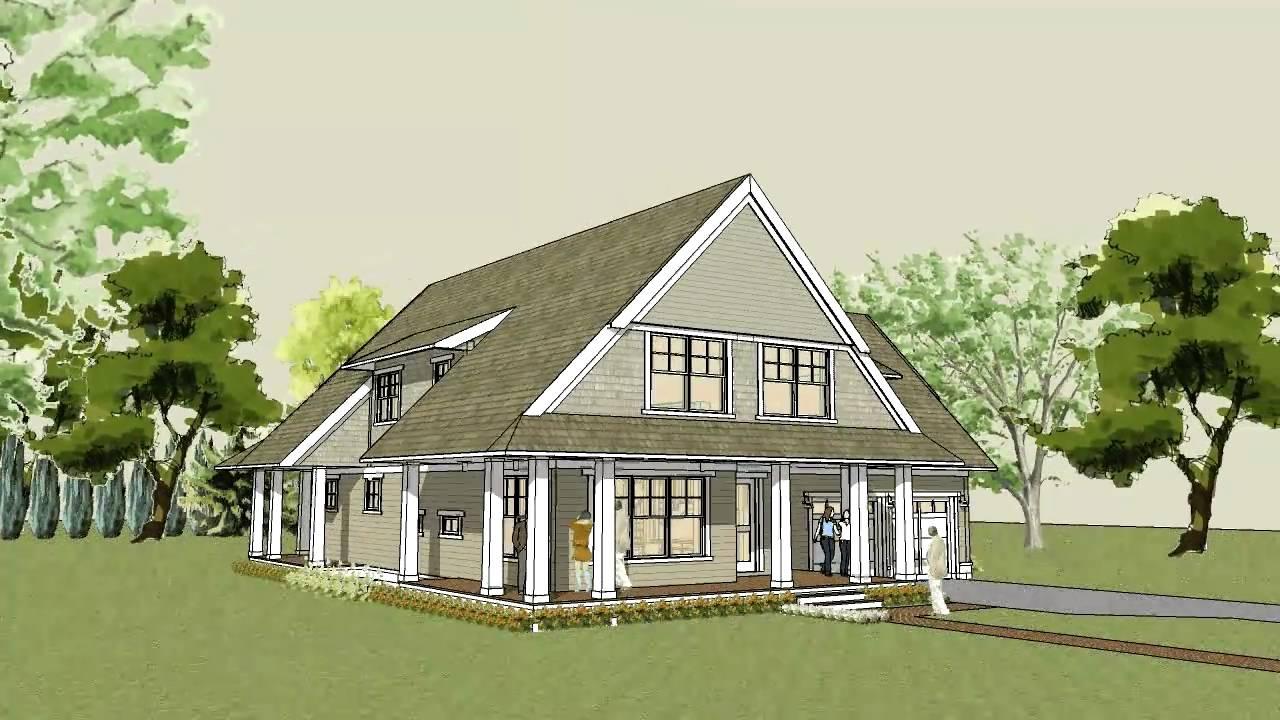 Simple unique modern cottage house plan afton cottage - Modern cottage house plans ...